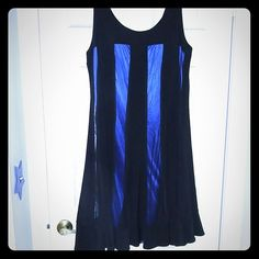 R&M Richards Party Dress R&M Richrds black party dress with royal blue underlay perfect for a holiday party. Dresses