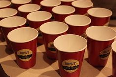 Oscars Party - Cup labels with movie categories