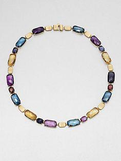 Marco Bicego 18K Gold & Semi-Precious Multi-Stone Link Necklace