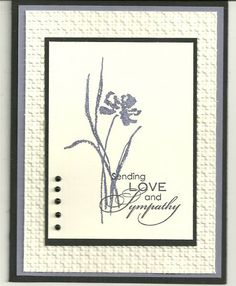 Wisteria Sympathy by barbaradwyer82 - Cards and Paper Crafts at Splitcoaststampers