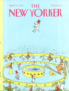 New yorker diving dog