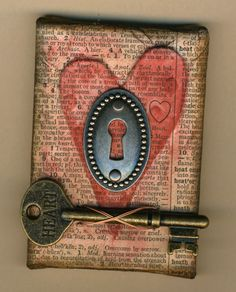 love this...have to find some skeleton keys!!! @Tish Freeman, I am pretty sure we can make these!!