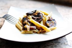 Pasta with Whiskey, Wine, and Mushrooms by thepioneerwoman