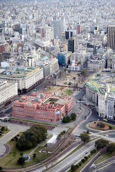 Buenos Aires, Argentina- Aerial view of La Casa Rosada, officially known as the Casa de Gobierno or Palacio Presidencial, is the official seat of the executive branch of the Government of Argentina. Argentina South America, Visit Argentina, Argentina Travel, South America Travel, Argentine Buenos Aires, Places To Travel, Places To See, Wonderful Places, Beautiful Places