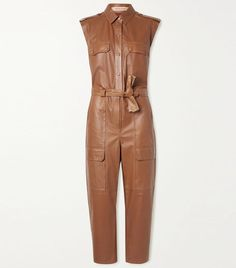 The Leather Jumpsuit Trend Is One of the Coolest of 2020 Leather Jumpsuit, Leather Catsuit, Black Catsuit, Lazy Outfits, 2020 Fashion Trends, Jennifer Fisher, Who What Wear, Dresses For Work, Fit Team
