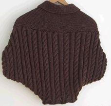 Bolero de tricô com trança