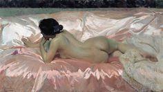 Joaquín Sorolla, Desnudo Femenino (Retrato de la esposa del artista) , 1902.