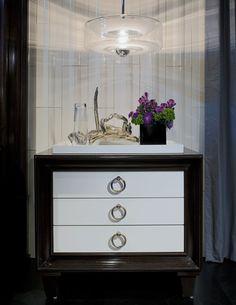 ANN SACKS Andy Blick visor E10 ceramic tile in bright white gloss