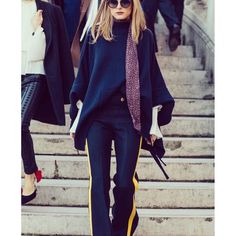 """94 Likes, 14 Comments - RAE - Fusing Design & Wine (@fwp_by) on Instagram: """"Navy is the new black and we've got it covered. These trousers on the uber stylish @oliviapalermo…"""""""