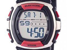 Relógio Masculino Surf More 1775491G - Digital Resistente à Água com Cronomêtro