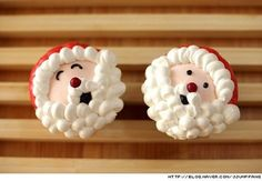 Too cute!!! Christmas Santa Cupcakes