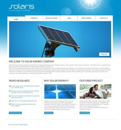 Solaris Solar Website Templates by Hugo
