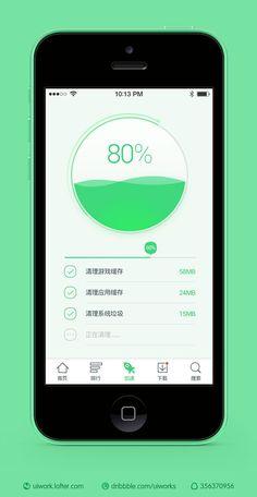 Circular Progress Meter UI | Flat User Interface Design #mobile #ui #design pinterest.com/alextcsung/