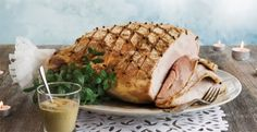 Christmas ham Finnish style - cook and serve it anyway you like, as long as it is slowly cooked in rye (smoky, drying barn variety) crust, and decorated with breadcrumbs and cloves!