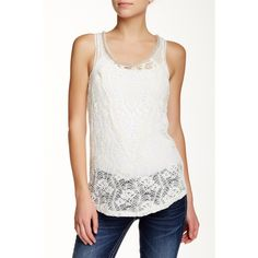 fdbbdb2bfa93 MISS ME Embellished Neck Lace Tank ( 27) ❤ liked on Polyvore featuring tops