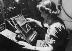Women's Auxiliary Air Force or WAAF, woman tracking aircraft via radar during WWII