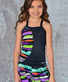 Look at this #zulilyfind! Neon Purple Slash Punkz Gear Razorback Tank - Girls by Punkz Gear #zulilyfinds dance wear