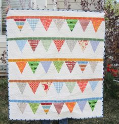Baby boy pennant quilt