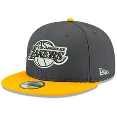 Men's Los Angeles Lakers New Era Heathered Gray/Yellow Shader Melt 2 Hat Lakers Hat, Bryant Lakers, Kobe Bryant, Beanie Outfit, 59fifty Hats, New Era Fitted, Nba Store, New Era Hats, Hip Hop Outfits