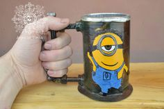 Beer steampunk tankard alambique,metal,mignions,steampunk , beer ,cosplay ,Despicable Me, gift,stein, tankard,mug,iron,forged