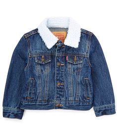 From Levi's®, this jacket features:Classic, constructed denim fabricSynthetic sherpa trim at pockets, pocketsSnap closures at frontCotton/polyesterMachine washImported. Baby Outfits, Rock Outfits, Emo Outfits, Baby Boy Fashion, Toddler Fashion, Western Babies, Western Baby Clothes, Cute Baby Clothes, Babies Clothes
