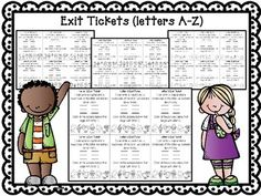 A-Z EXIT TICKETS (AN EXIT TICKET FOR EVERY LETTER) GOOD FORMATIVE ASSESSMENTS Preschool Assessment, Formative Assessment, Letter Assessment, Letter Identification Activities, Letter Activities, School Forms, School Fun, School Ideas, Phonics Reading
