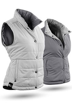 White/Gray Sun Mountain Ladies Alpine Reversible Golf Vest at #LorisGolfShoppe