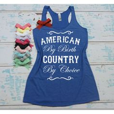 American by Birth Country by Choice Eco Razor Back Tank Top 4th of... ($22) ❤ liked on Polyvore featuring tops, black, tanks, women's clothing, lightweight shirt, americana shirts, american tops, america tank top and america shirts