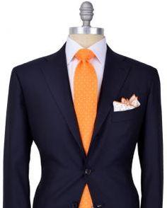 Kiton Men's | Stanley Korshak  Solid Navy Suit $7,995/$5,596