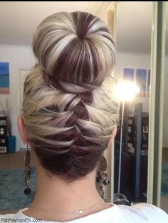 Complicated Looking But Simple To Do Hairstyle Braided Bun Hairstyles, Up Hairstyles, Pretty Hairstyles, Braided Buns, Messy Buns, Wedding Hairstyles, Stylish Hairstyles, Princess Hairstyles, Wedding Updo