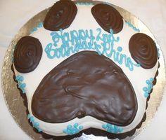 Bone Shaped Dog Birthday Cakes Cake Gift Happy Pet