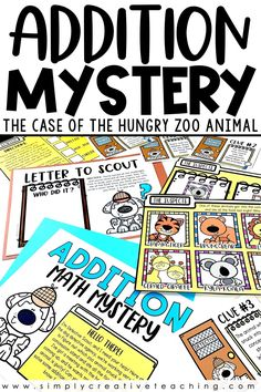 Engage your first grade and second grade students in these math mysteries for digital learning or in the classroom! Students will complete math challenges, just like math centers, and earn clues to solve a mystery! Skills include addition facts, 2 digit addition, 3 digit addition, subtraction facts, 2 digit subtraction, and 3 digit subtraction! You can use for distance learning in Google Slides or Seesaw! All activities can be used as printables and worksheets as needed!