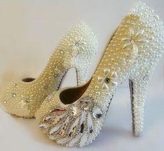 wedding shoes luxury wedding heels pearl high by luxuryshow2828, $180.00