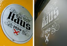 Das Haus   Creación de nombre de marca, diseño y aplicaciones para café Das Haus   Valdivia   2015