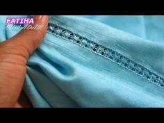 ملاقية راندة خفيفة سهلة و شكل رائع جديد مع ام ادم. - YouTube Design Model, Blouse Designs, Couture, Embroidery, Stitch, Sewing, Fashion, Crocheted Purses, Sewing Ideas