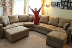 Large U shape sofa makeover. Check out other sofa makeovers at The Sofa Company. www.thesofaco.com