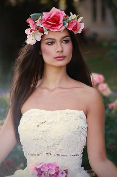 Sohemi_art / Kvetinový venček Ale, Strapless Dress, Flower Headbands, Flowers, Dresses, Fashion, Strapless Gown, Vestidos, Moda