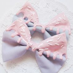 pastel bows More (Kawaii Diy Clothes) Pastel Goth Fashion, Kawaii Fashion, Lolita Fashion, Harajuku Fashion, Pastel Punk, Pastell Goth Outfits, Pastel Outfit, Visual Kei, Cute Diy