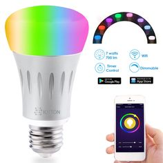 Easily create a beautiful smart lighting system in your home with Alexa or Google. #smartlight #smarthome #led #light #bulb #lightbulb #ledlight #ledlighting