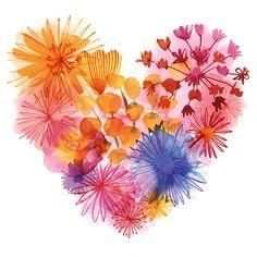 Margaret Berg Art: Spring Floral Heart