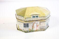 Vintage 1983 Cottage Tin Box by National Trust Cottages