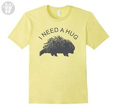 Mens I Need a Hug - Funny Porcupine Tee Shirt 2XL Lemon - Funny shirts (*Amazon Partner-Link)