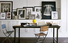 A study in black and white on gallery wall in Brooke Shields' Manhattan home.