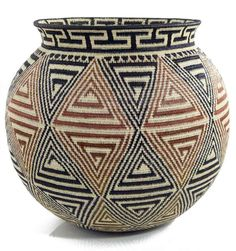 Contemporary Wounaan Hӧsig Di Basketry Handmade in Panama by the indigenous Wounaan tribe, these vibrant and intricate baskets, now some of the rarest art forms across the globe, are the result of ancient weaving traditions passed through generations of the indigenous peoples
