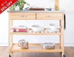 Crack down on kitchen clutter and make the most of your cabinet and counter space with storage solutions and kitchen essentials to help you stay organized. Bakers racks and portable kitchen carts are great for smaller spaces, because you can tuck them along a wall or in a corner while still making use of the shelves and surfaces. Stash spare utensils in a drawer organizer and stow fancy dishware away in a durable storage bin. Make space in your refrigerator and corral favorite fruits in …