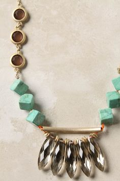 turqoise, statement necklace