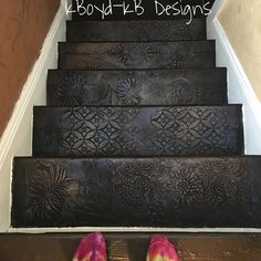 New stair project for client. Kathy Boyd #kbdesigns #kbdesignsmn #stairs #stairmakeover