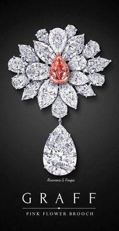 High Pink Jewellery | MM&Co. | Graff Pink Diamond Flower Brooch |