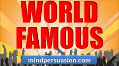 http://mindpersuasion.com Easily get crowds to follow you everywhere. Generate massive worldwide love and respect. Attract admirers from all over the world. Be eagerly accepted and loved wherever you go. To learn more, please visit http://mindpersuasion.com  Subliminal Messages:   I am world famous  people love me  everybody loves me  I am incredibly well known  people around the world crave my presence  people around the world know my name  people around the world know my ...