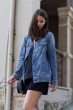 denim jacket #style #harperandharley